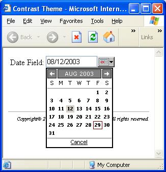 Contrast theme in IE6